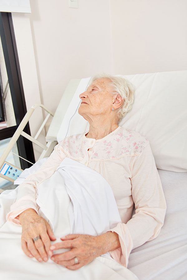picture of socially isolated elderly person