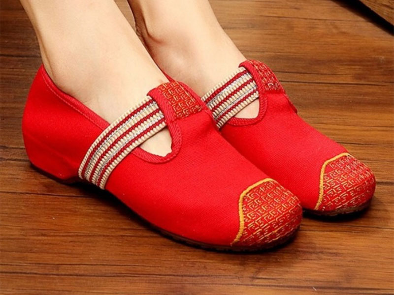bright red women's shoes